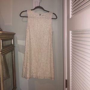 Alice + Olivia White Beaded Lace Dress Size 2